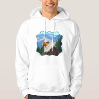 Bald Eagle Basic Hooded Sweatshirt