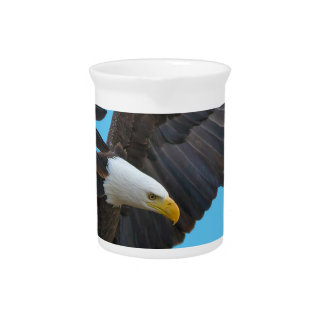 Bald eagle beverage pitcher