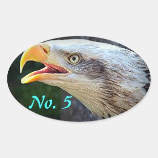 Bald Eagle Bin Stickers