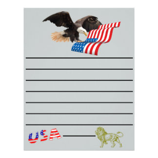 bald eagle bird freedom honor USA America Letterhead