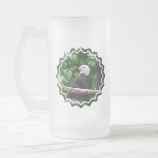 Bald Eagle Bird Frosted Beer Mug