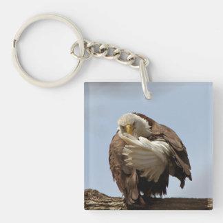 Bald Eagle (Bird giving the bird) Single-Sided Square Acrylic Keychain