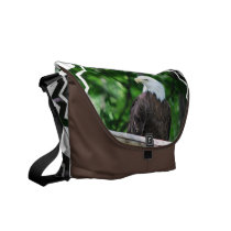 Bald Eagle Bird Messenger Bag