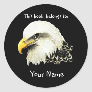 Bald Eagle Bird, This book belongs Bookplate