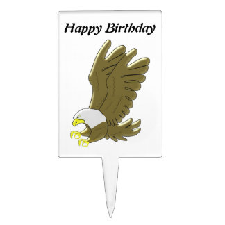 Bald Eagle Birthday Cake Topper