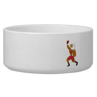Bald Eagle Boxer Pumping Fist Cartoon Bowl
