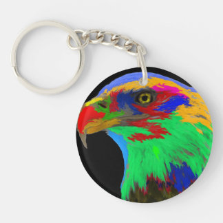 Bald Eagle (brushed) Keychain