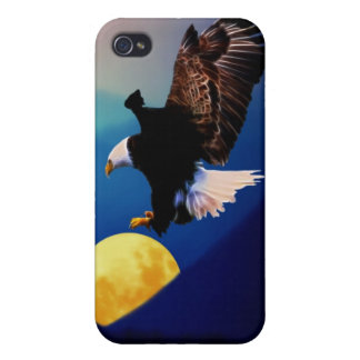 Bald eagle chases the full moon iPhone 4/4S cover