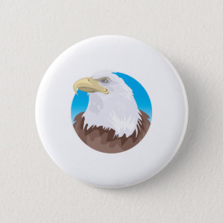 bald eagle circle design button