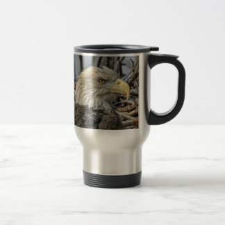 Bald Eagle Close Up Travel Mug