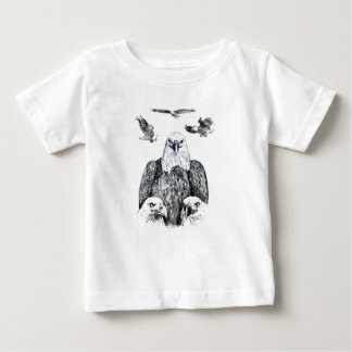 Bald Eagle Collage Pencil drawing sketch Baby T-Shirt