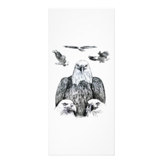 Bald Eagle Collage Pencil drawing sketch Rack Card