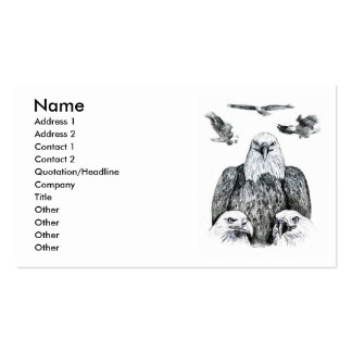 Bald Eagle Collage Pencil drawing sketch Business Card Templates