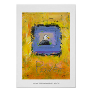 Bald eagle colorful modern art power confidence poster
