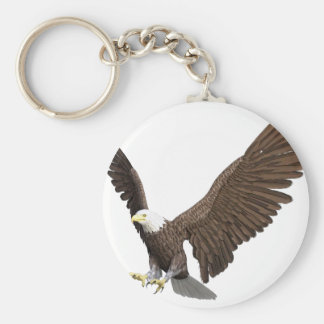 Bald Eagle Coming In For A Landing Keychain