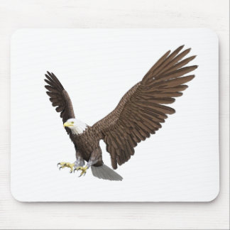 Bald Eagle Coming In For A Landing Mouse Pad