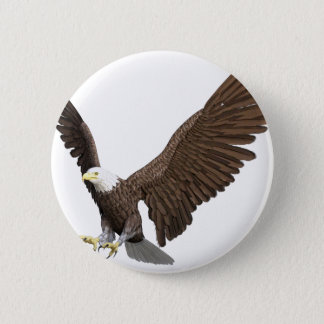 Bald Eagle Coming In For A Landing Pinback Button