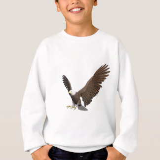 Bald Eagle Coming In For A Landing Sweatshirt