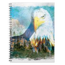 Bald eagle design notebook
