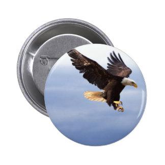Bald Eagle Dive 2 Inch Round Button