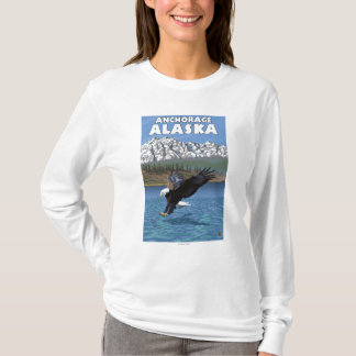 Bald Eagle Diving - Anchorage, Alaska T-Shirt