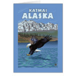 Bald Eagle Diving - Katmai, Alaska Card