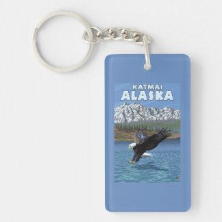 Bald Eagle Diving - Katmai, Alaska Double-Sided Rectangular Acrylic Keychain