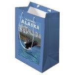 Bald Eagle Diving - Katmai, Alaska Medium Gift Bag