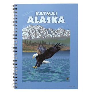Bald Eagle Diving - Katmai, Alaska Notebook