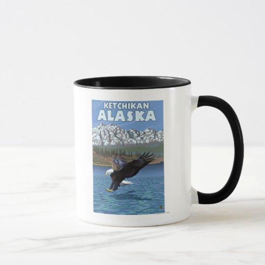 Bald Eagle Diving - Ketchikan, Alaska Mug