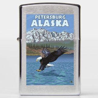Bald Eagle Diving - Petersburg, Alaska Zippo Lighter