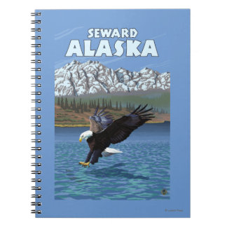 Bald Eagle Diving - Seward, Alaska Notebook