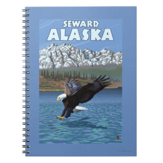 Bald Eagle Diving - Seward, Alaska Spiral Notebook