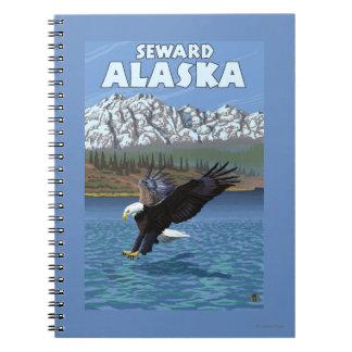 Bald Eagle Diving - Seward, Alaska Spiral Notebook