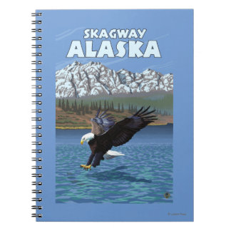 Bald Eagle Diving - Skagway, Alaska Notebook