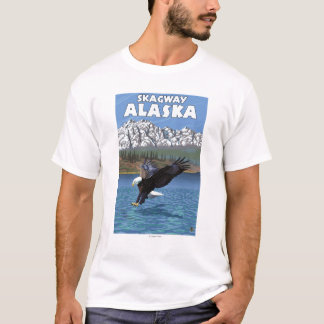 Bald Eagle Diving - Skagway, Alaska T-Shirt