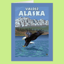 Bald Eagle Diving - Valdez, Alaska Card