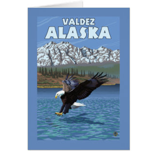 Bald Eagle Diving - Valdez, Alaska Card