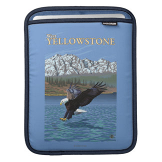 Bald Eagle Diving - West Yellowstone, MT iPad Sleeves