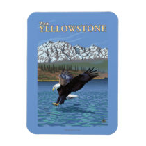 Bald Eagle Diving - West Yellowstone, MT Magnet