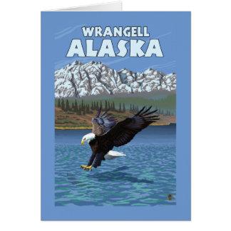 Bald Eagle Diving - Wrangell, Alaska Card