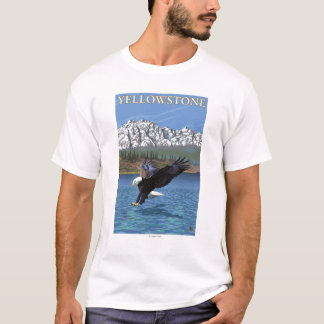 Bald Eagle Diving - Yellowstone National Park T-Shirt