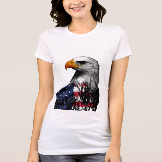 Bald Eagle draped in the American Flag T-Shirt