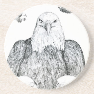 Bald Eagle Drawing Drink Coasters