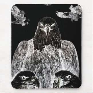Bald Eagle Drawing, Inversion of Pencil drawing Mouse Pad
