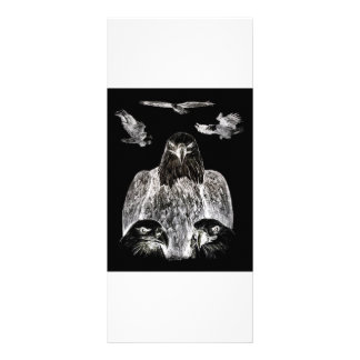 Bald Eagle Drawing, Inversion of Pencil drawing Full Color Rack Card