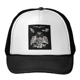 Bald Eagle Drawing, Inversion of Pencil drawing Trucker Hat
