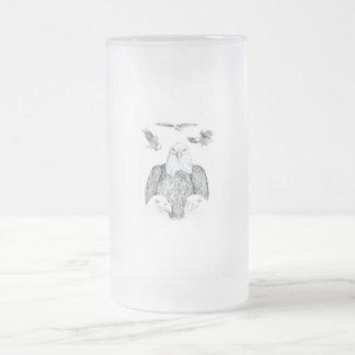Bald Eagle Drawing 16 Oz Frosted Glass Beer Mug