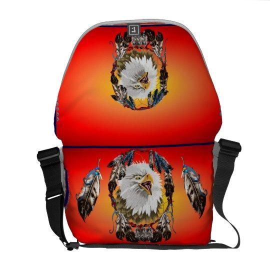 Bald Eagle Dreamcatcher  Rickshaw Messenger Bag