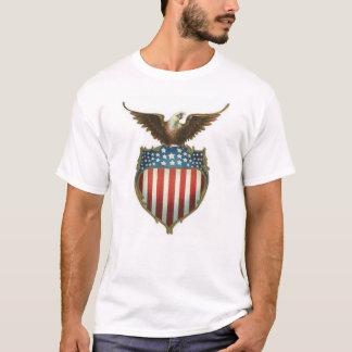 Bald eagle eagle atop of stars & stripes shield T-Shirt